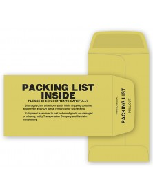 Packing List Envelope