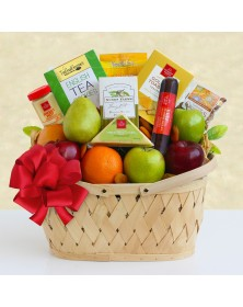 Holiday Fruit Greetings Food Gift Basket
