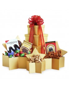 Holiday Superstar Food Gift Tower