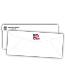 No 10 Business Envelopes with Flag Design