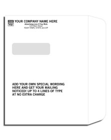 Imprinted Booklet Type Window Envelopes