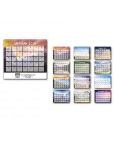 Scenic Small Memo Wall Calendar - Spiral