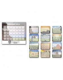 Agriculture Small Memo Wall Calendar - Spiral
