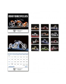 Motorcycles Wall Calendar - Stapled