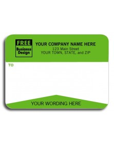 Green Mailing Labels - Padded