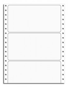 Continuous Blank White Labels