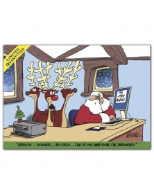 Stumped Santa Christmas Card