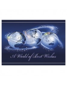 World of Best Wishes Business Holiday Card