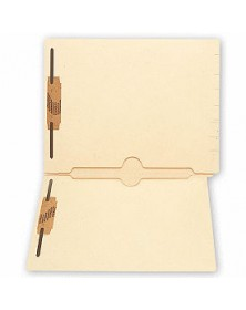 End Tab Folders, Manila, 11pt, 2 Full Pocket, 2 Fastener (Item # 101TW) - Business Checks Supplies  - Business Checks | Printez.com