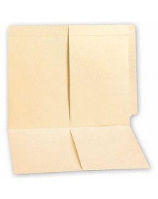 End Tab Folders, Manila, 11pt, 2 Half Pocket, No Fastener (Item # 12880) - Business Checks Supplies  - Business Checks | Printez.com