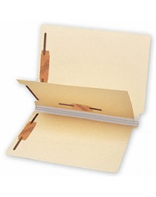 End Tab Folders, Manila, 18pt, 1 Divider, Multi Fastener (Item # 1420) - Business Checks Supplies  - Business Checks | Printez.com