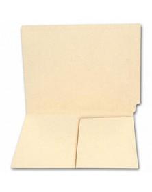 End Tab Half Pocket Manila Folder, 11 pt, No Fastener (Item # 1752) - Business Checks Supplies  - Business Checks | Printez.com