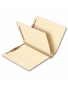 End Tab Single Divider Manila Folder, 14 pt, Multi-Fastener (Item #25912) - Business Checks Supplies  - Business Checks | Printez.com