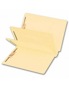 End Tab Double Divider Manila Folder, 14 pt, Multi-Fastener (Item #25913) - Business Checks Supplies  - Business Checks | Printez.com