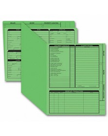 Real Estate Folder, Right Panel List, Letter Size, Green (Item #275G) - Business Checks Supplies  - Business Checks | Printez.com