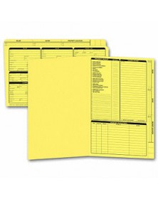 Real Estate Folder, Right Panel List, Legal Size, Yellow (Item #276Y) - Business Checks Supplies  - Business Checks | Printez.com