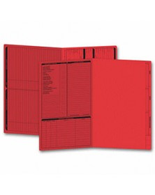 Real Estate Folder, Left Panel List, Legal Size, Red (Item #286R) - Business Checks Supplies  - Business Checks   Printez.com
