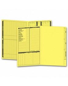 Real Estate Folder, Left Panel List, Legal Size, Yellow (Item #286Y) - Business Checks Supplies  - Business Checks | Printez.com