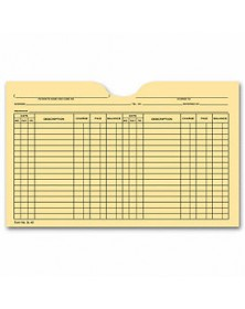 Printed Card File Pocket, Double Column, Buff (Item # 5L40) - Business Checks Supplies  - Business Checks | Printez.com