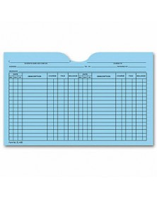 Printed Card File Pocket, Double Column, Blue (Item # 5L40B) - Business Checks Supplies  - Business Checks | Printez.com