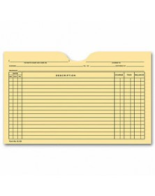 Printed Card File Pocket, Single Column, Buff (Item # 5L60) - Business Checks Supplies  - Business Checks | Printez.com
