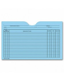 Printed Card File Pocket, Single Column, Blue (Item # 5L60B) - Business Checks Supplies  - Business Checks | Printez.com