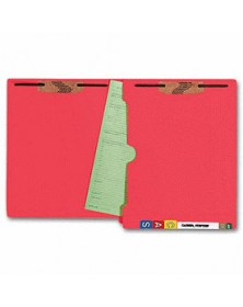 End Tab Full Pocket Color Folder, 11 pt, Two Fastener (Item # F112) - Business Checks Supplies  - Business Checks | Printez.com