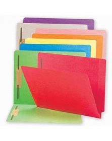 End Tab Folders, Colored, Full Cut, 18 pt, Two Fastener (Item # HD22) - Business Checks Supplies  - Business Checks | Printez.com