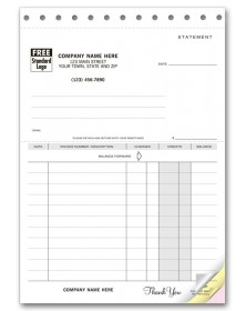 Carbonless Statement Business Forms