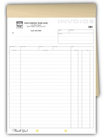 Invoice Books with Triplicate Copies