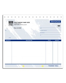 Unlined Colored Invoice Forms