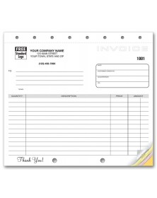 Compact Carbonless Custom Invoices