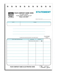 Compact Carbon Copy Statement Forms