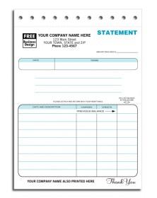 Compact Carbon Copy Statement Forms
