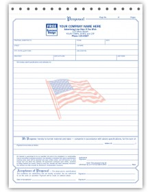 Proposal Forms with American Flag