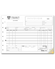 Wholesale Invoice Forms - Horizontal Format
