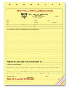 Lined Authorization Business Forms