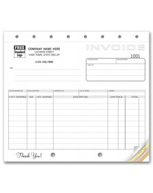 Compact Shipping Invoice