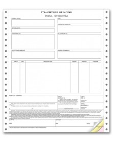 Straight Bill of Lading In Continuous Format