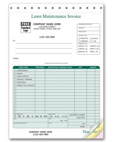 Professional Invoices - Lawn Maintenance Invoices