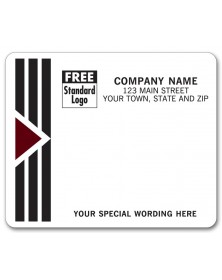 Black and White Imprinted Mailing Labels