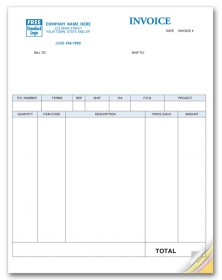 Laser Product Invoice compatible with QuickBooks