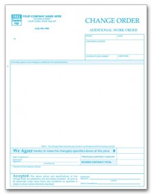Change Order Request Form U2013 Ready Built Forms