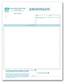 Laser Job Estimate