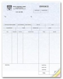 Laser Inventory Invoice - Parchment