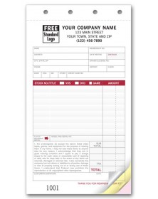 Video Rental Order Custom Order Forms