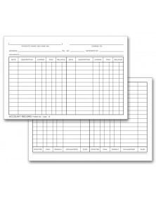 Double Entry Record Billing Cards