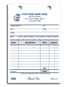 Register Forms designed With Cash and Carry Options