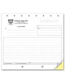 Lined Personalized Office Memos