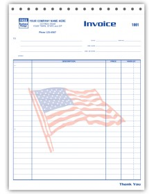 Job Invoices with Patriotic Flag